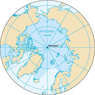 Positionskarte Arktischer Ozean