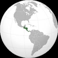 Lage Zentralamerikas auf der Weltkugel