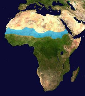Satellitenbild Sahelzone