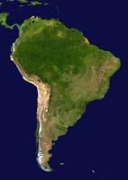 Satellitenaufnahme von Südamerika