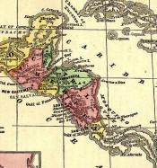 Historische Karte Zentralamerika