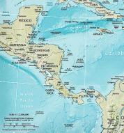 Zentralamerika Politische Karte