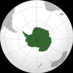 Orthographische Projection der Antarktis