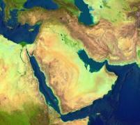 Satellitenaufnahme des Nahen Ostens