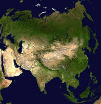 erdkugel mit kontinenten