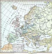 Historische Europakarte 1899