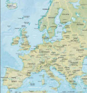 Politische Karte von Europa