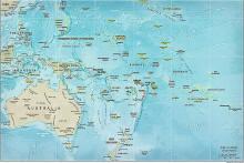 Politische Karte Ozeaniens