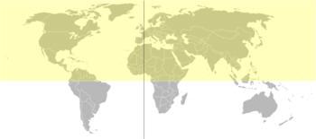 Hemisphärenkarte