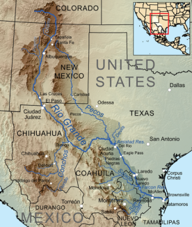 Colorado Karte Fluss.Der Rio Grande Der Rio Bravo Del Norte