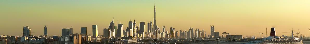 Panoramafoto Dubai bei Sonnenuntergang