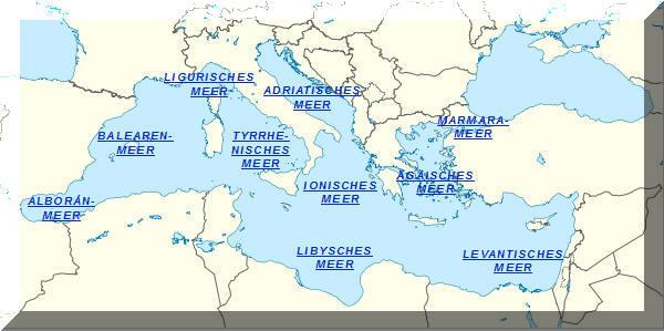 Mittelmeer Karte Europa.Das Europaische Mittelmeer Lexas Information Die
