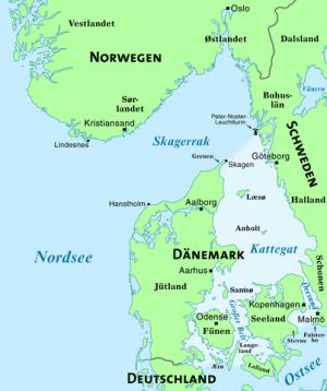 Karte Schweden Dänemark Deutschland.Das Kattegat Das Meeresgebiet Zwischen Jütland Und Schweden
