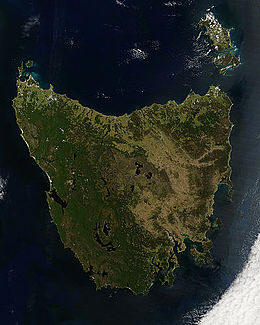 Satellitenfoto Tasmanien