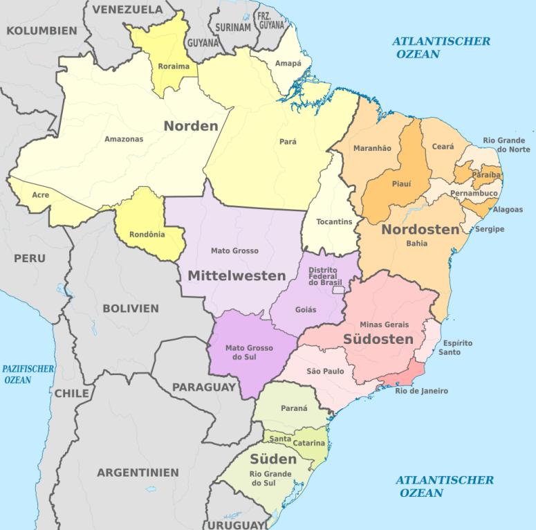 Brasilien Kontinent